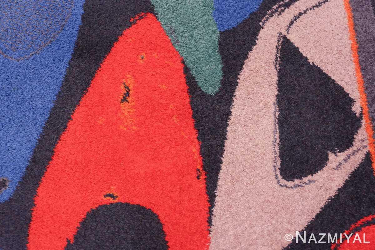 Vintage Andy Warhol Ege Art Line Diamond Dust Shoes Scandinavian rug 49784 violet Nazmiyal