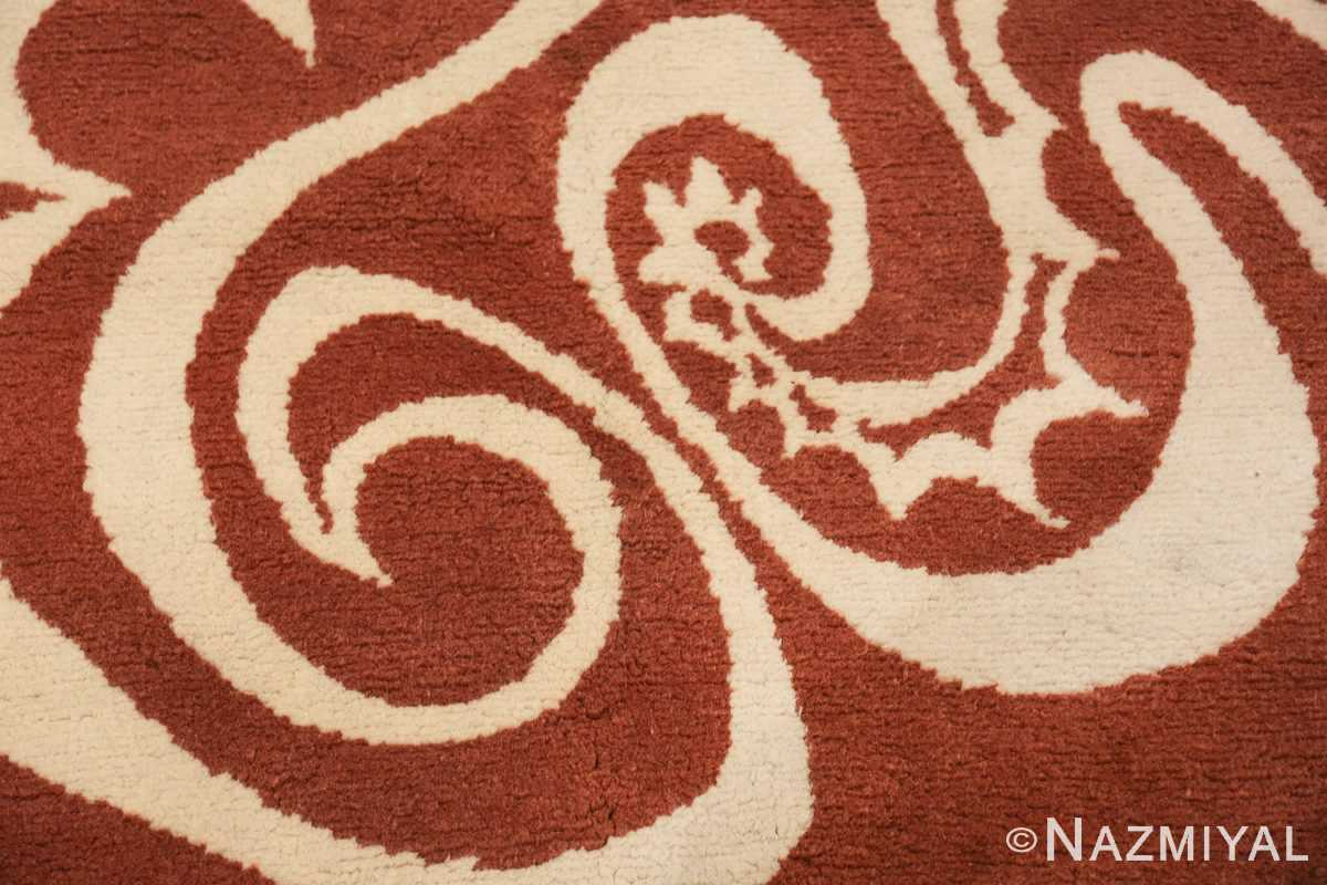 Vintage Arabesques Picasso Rug Commissioned by Marie Cuttoli 49802 ivory scrolls Nazmiyal