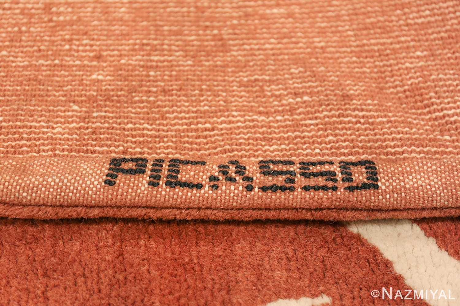 Vintage Arabesques Picasso Rug Commissioned by Marie Cuttoli 49802 Picasso Signature Nazmiyal