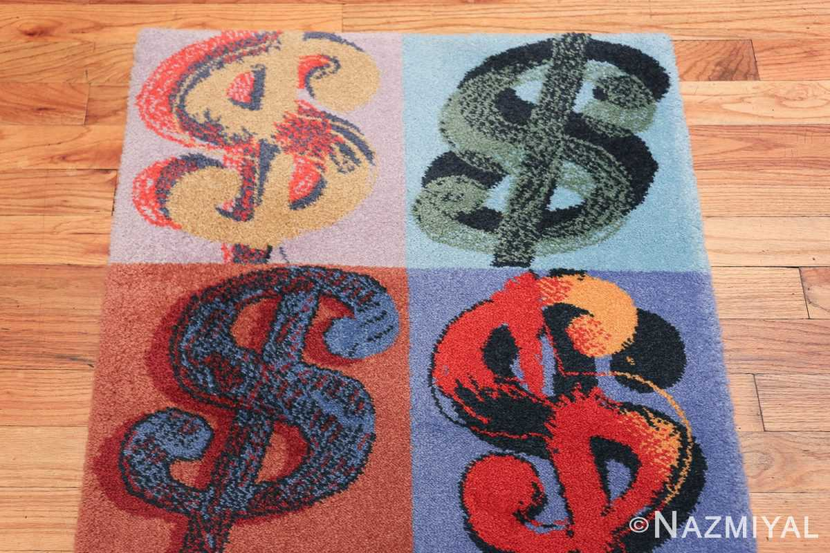 Vintage Dollar Sign Scandinavian runner rug by Andy Warhol 49792 top design Nazmiyal
