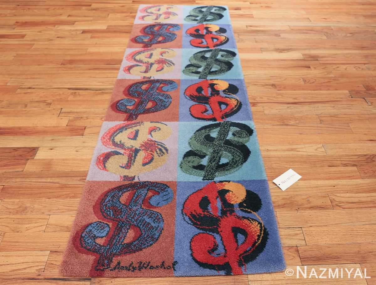 Vintage Dollar Sign Scandinavian runner rug by Andy Warhol 49792 whole design Nazmiyal