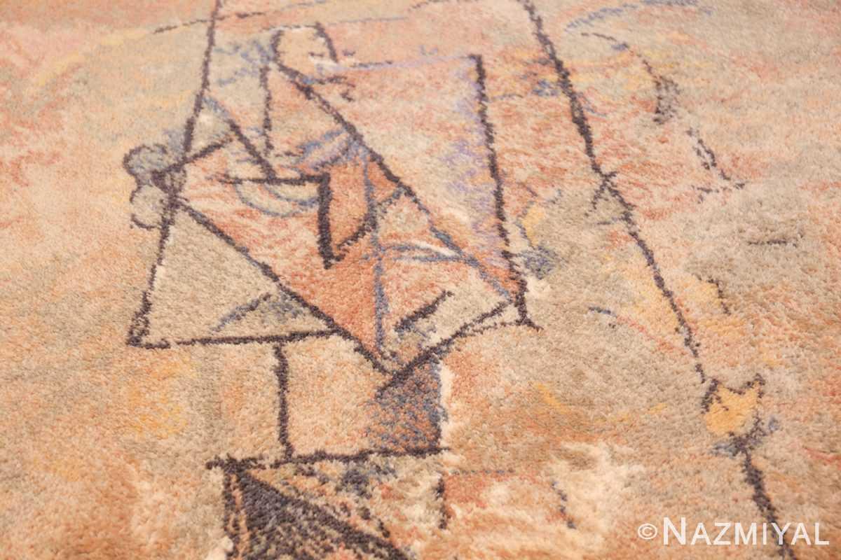 vintage ege art line scandinavian rug by Pablo Picasso 49758 face Nazmiyal
