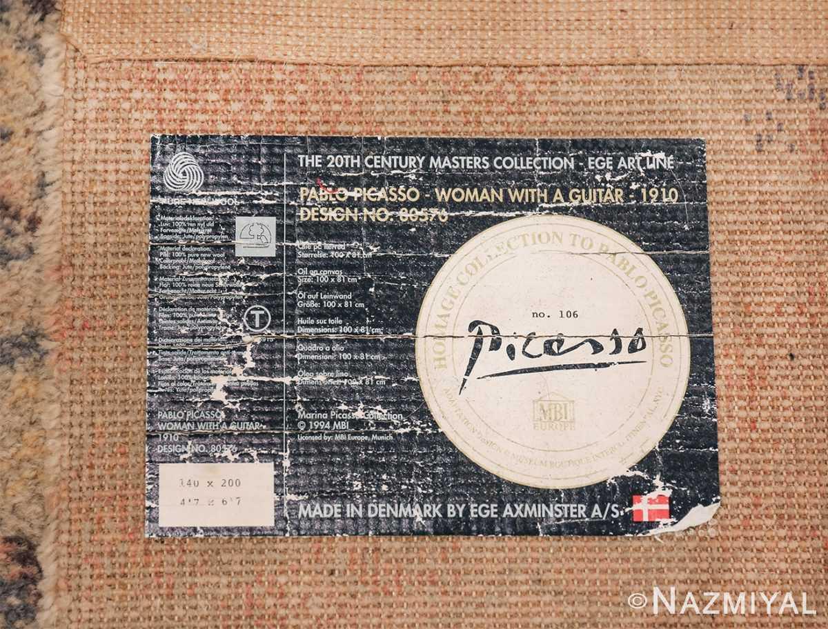 vintage ege art line scandinavian rug by Pablo Picasso 49758 tag Nazmiyal