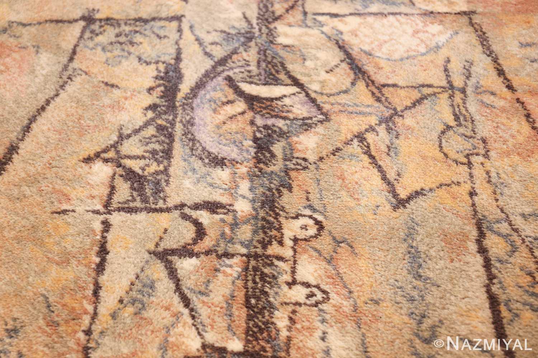 vintage ege art line scandinavian rug by Pablo Picasso 49758 texture Nazmiyal
