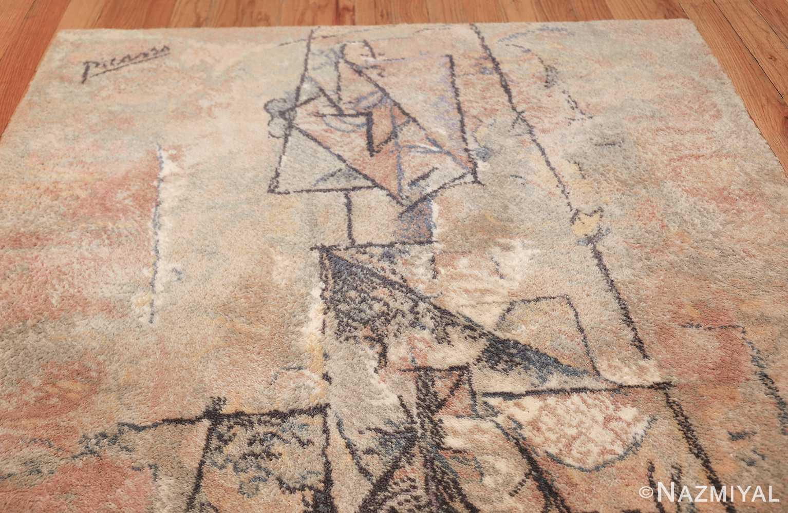 vintage ege art line scandinavian rug by Pablo Picasso 49758 top Nazmiyal