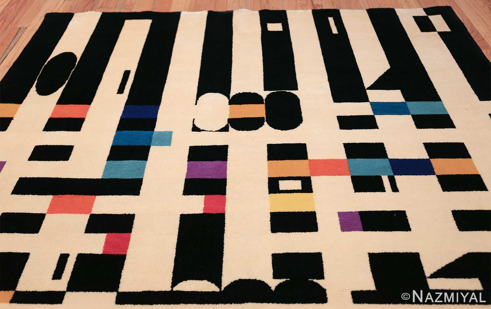vintage geometric israeli rug by yaacov agam 49772 top Nazmiyal