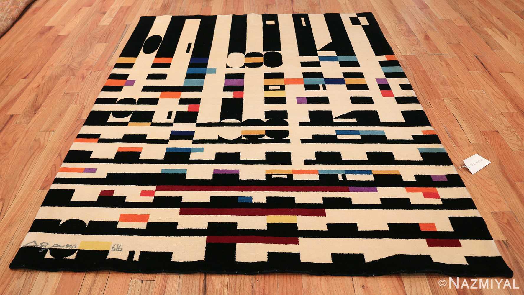 vintage geometric israeli rug by yaacov agam 49772 whole Nazmiyal