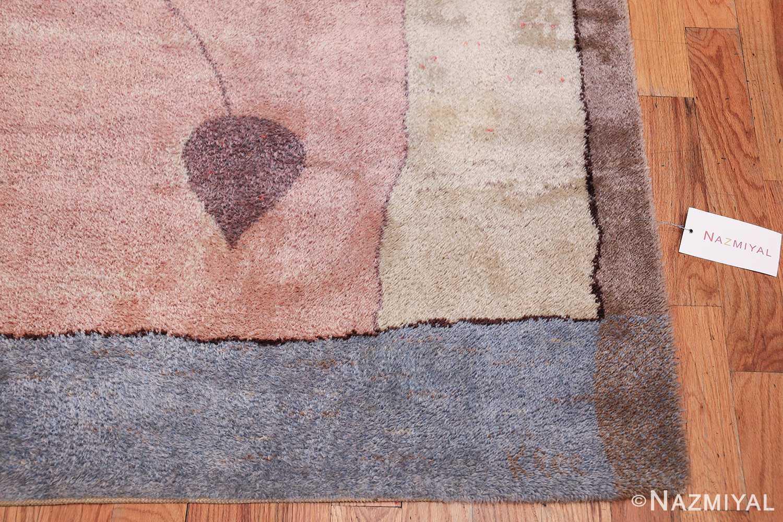 Vintage Paul Klee Arab Song Scandinavian Ege Art Line rug 49785 corner Nazmiyal