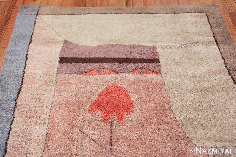 Vintage Paul Klee Arab Song Scandinavian Ege Art Line rug 49785 top Nazmiyal
