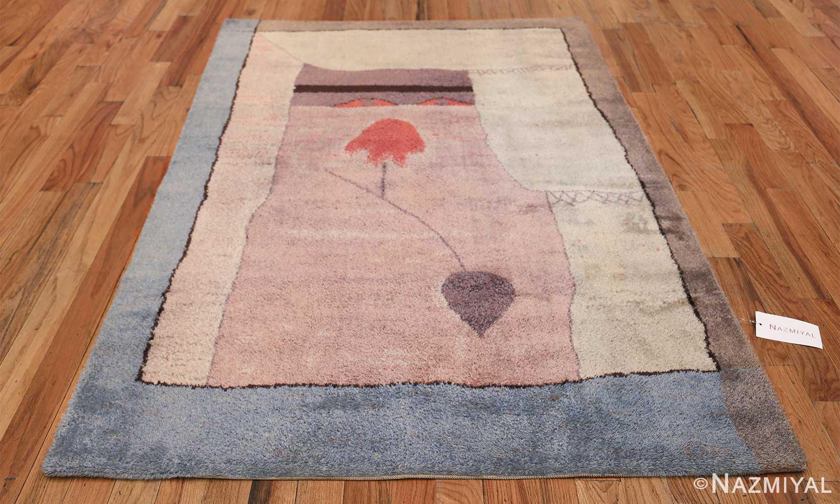 Vintage Paul Klee Arab Song Scandinavian Ege Art Line rug 49785 whole Nazmiyal