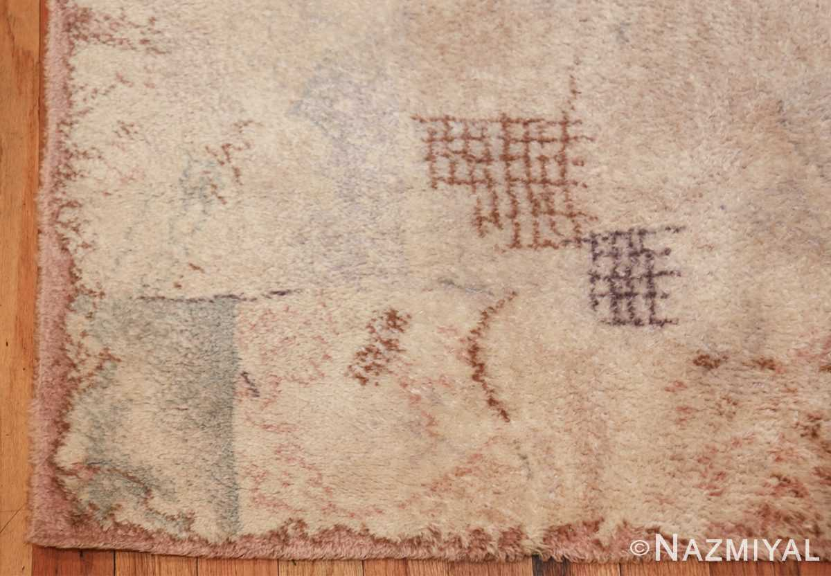 vintage paul klee scandinavian rug 49757 corner Nazmiyal