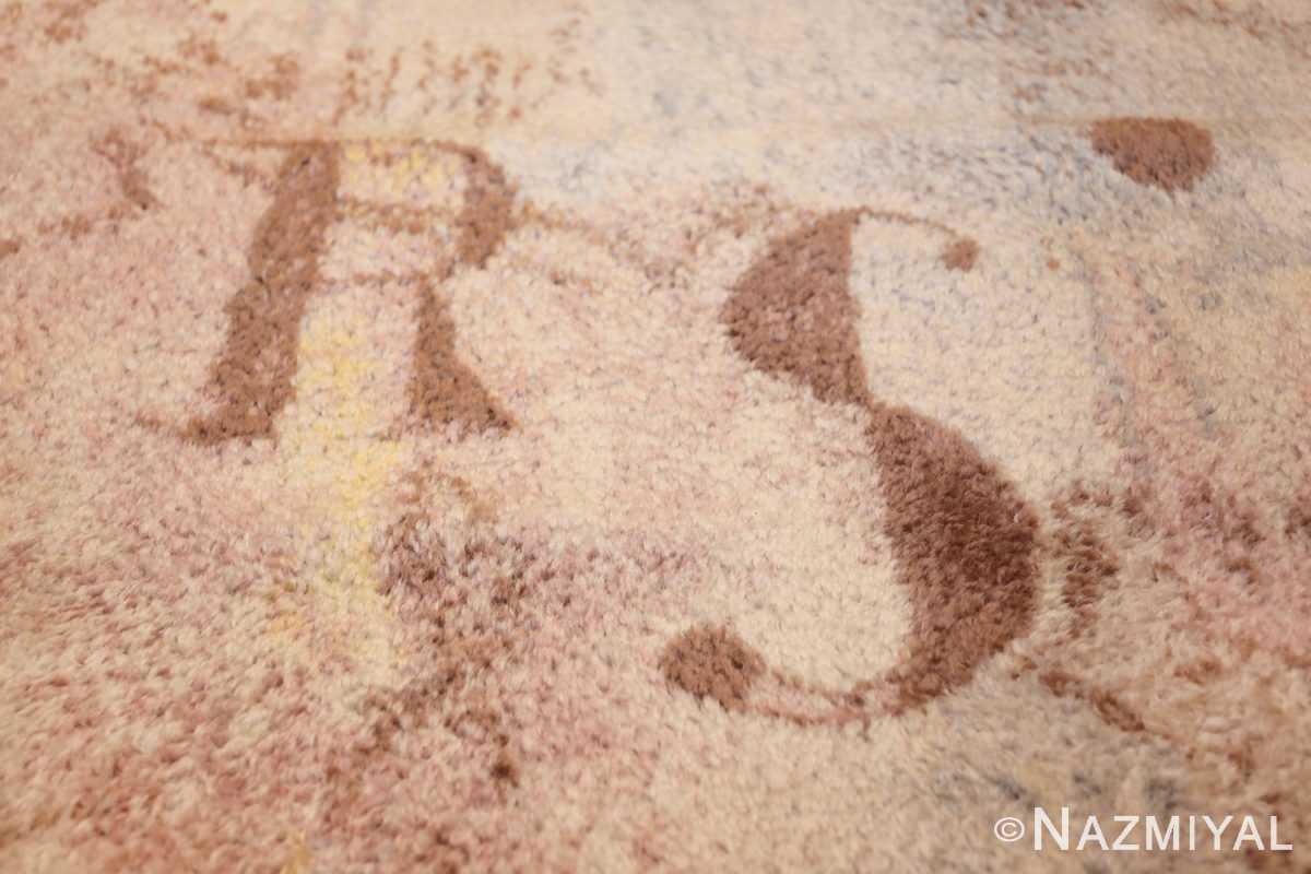 vintage paul klee scandinavian rug 49757 letters Nazmiyal