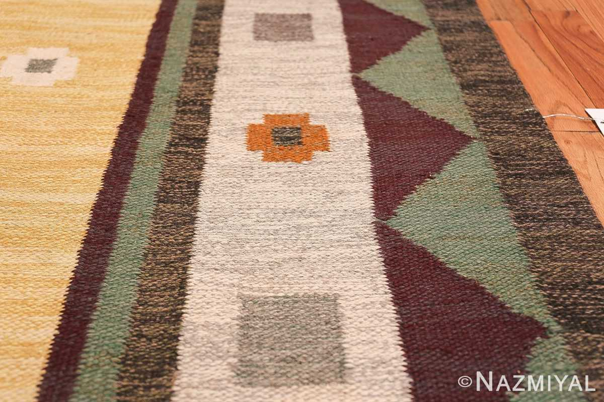 vintage scandinavian swedish kilim rug 49748 border Nazmiyal