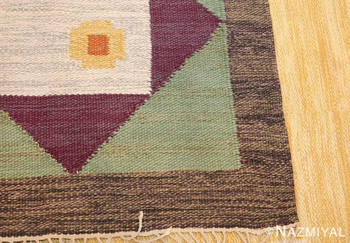 vintage scandinavian swedish kilim rug 49748 knots Namziyal