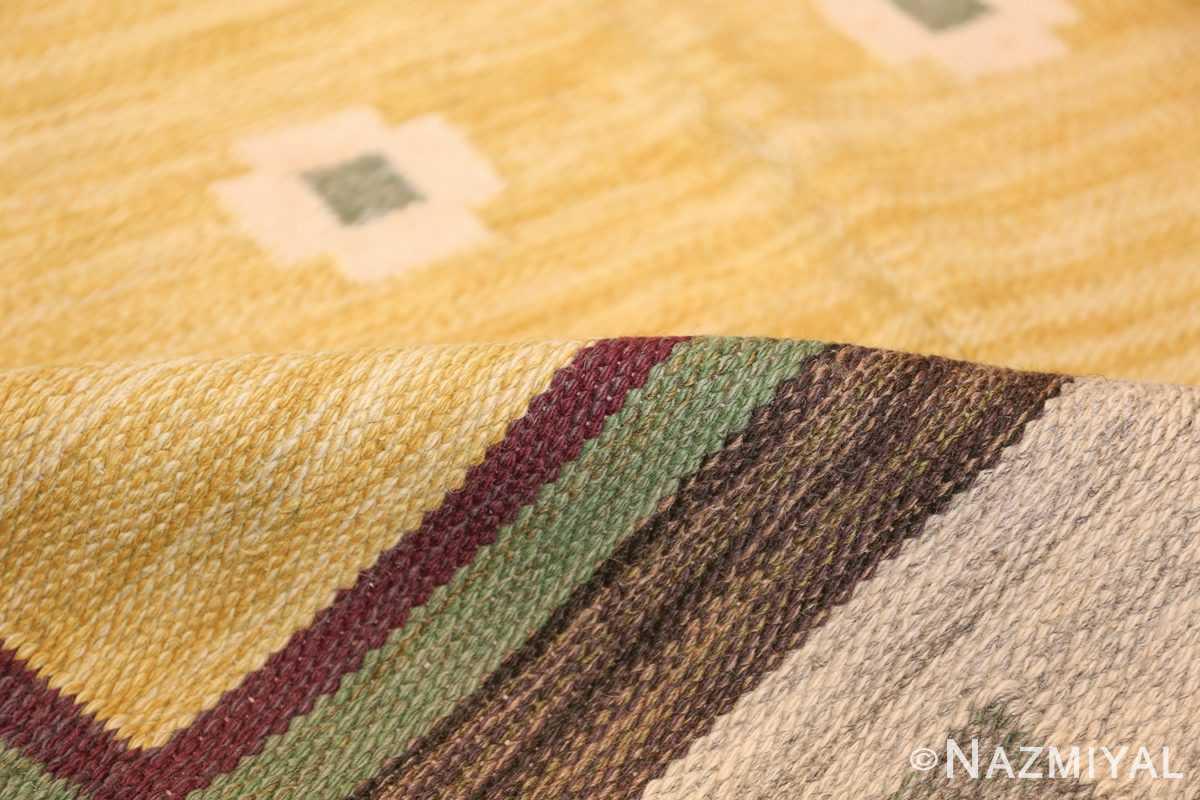 vintage scandinavian swedish kilim rug 49748 pile Nazmiyal