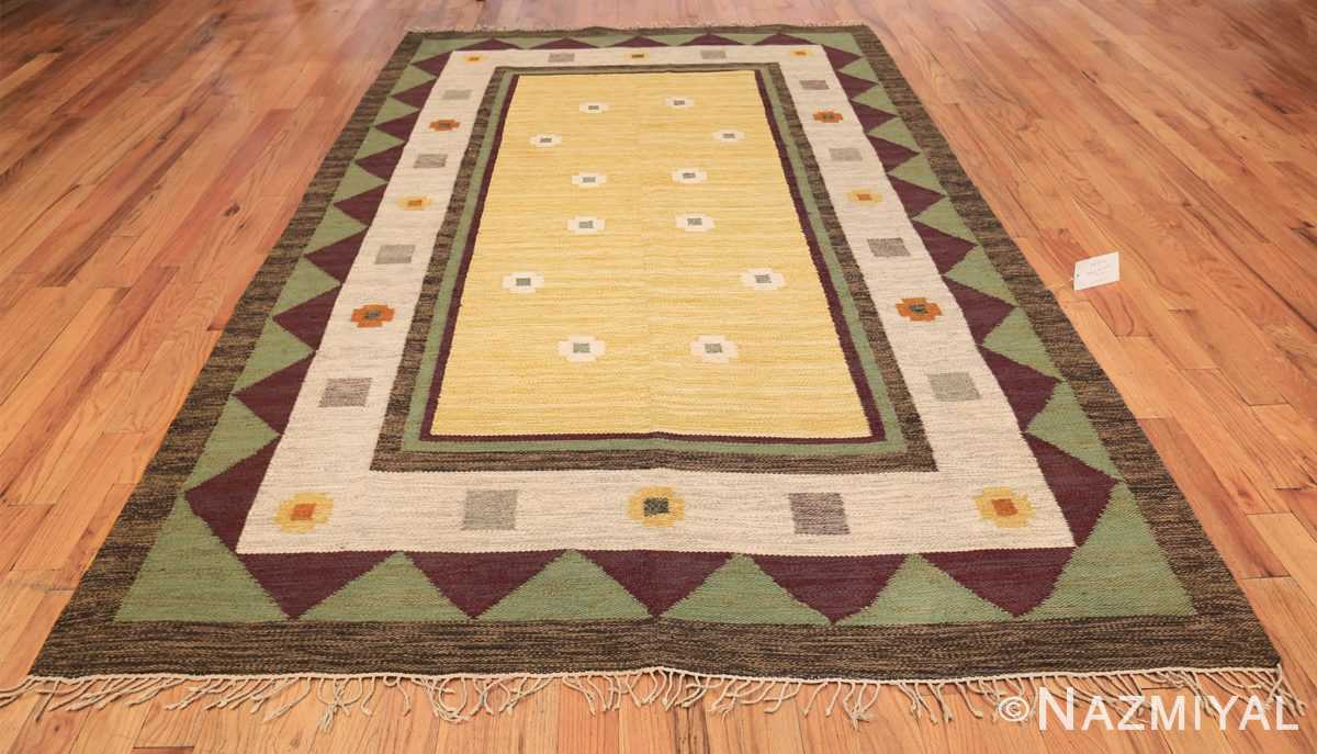 vintage scandinavian swedish kilim rug 49748 whole Nazmiyal