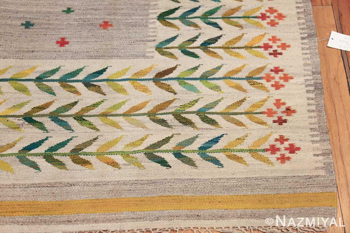 vintage scandinavian swedish rug 49771 corner Nazmiyal