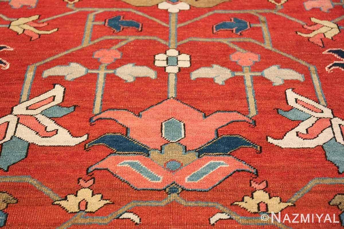 wide hallway antique persian heriz rug 49766 design Nazmiyal
