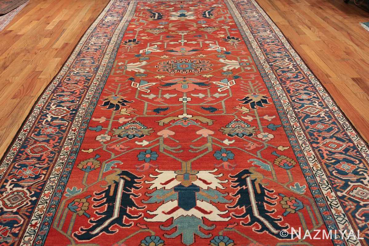 wide hallway antique persian heriz rug 49766 field Nazmiyal
