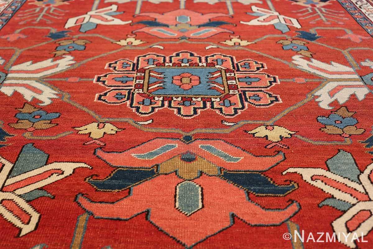 wide hallway antique persian heriz rug 49766 medallion Nazmiyal