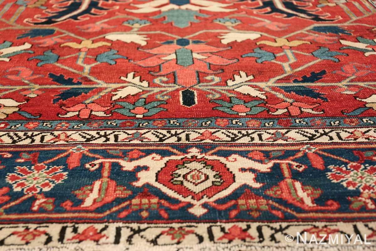 wide hallway antique persian heriz rug 49766 part Nazmiyal