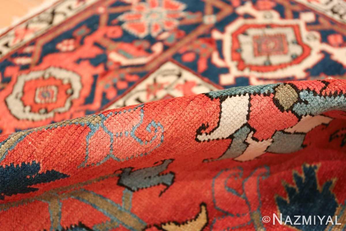 wide hallway antique persian heriz rug 49766 pile Nazmiyal