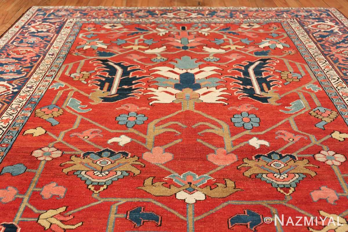 wide hallway antique persian heriz rug 49766 top Nazmiyal