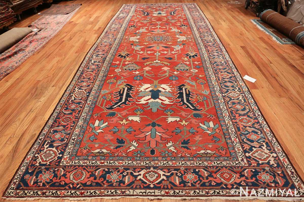 wide hallway antique persian heriz rug 49766 whole Nazmiyal