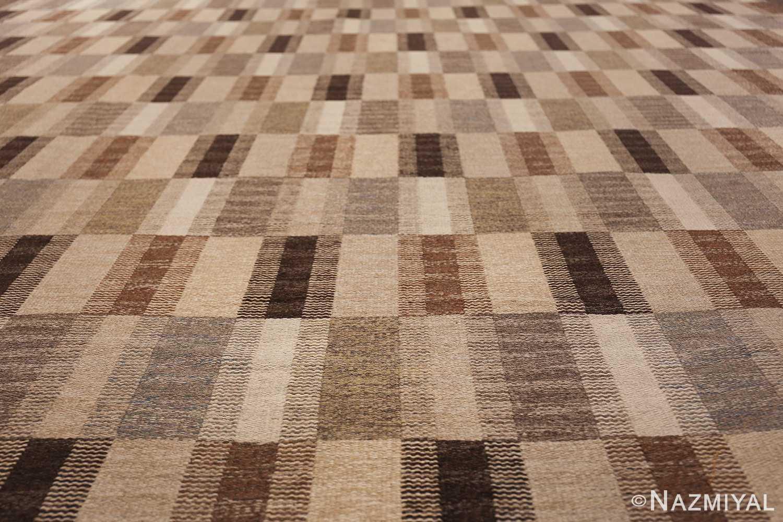 Wide hallway vintage Scandinavian kilim rug by Brita Grahn 49804 field tiles Nazmiyal