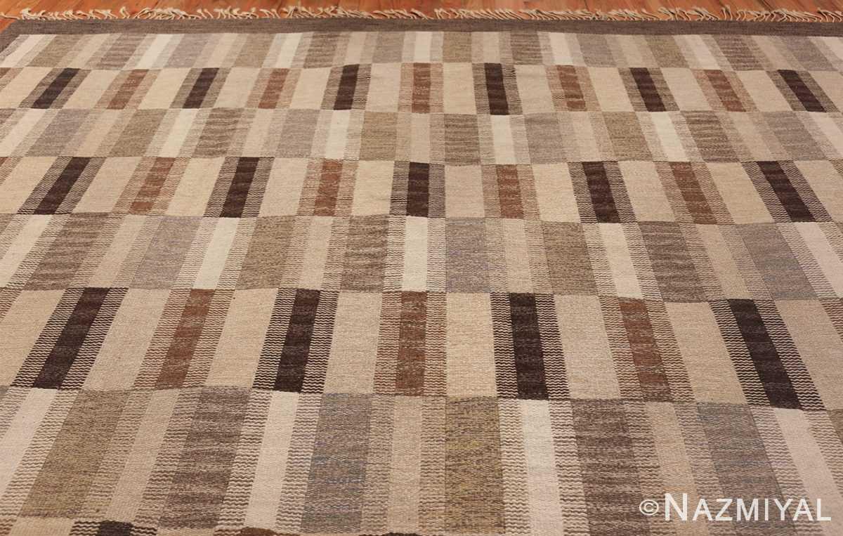Wide hallway vintage Scandinavian kilim rug by Brita Grahn 49804 top Nazmiyal