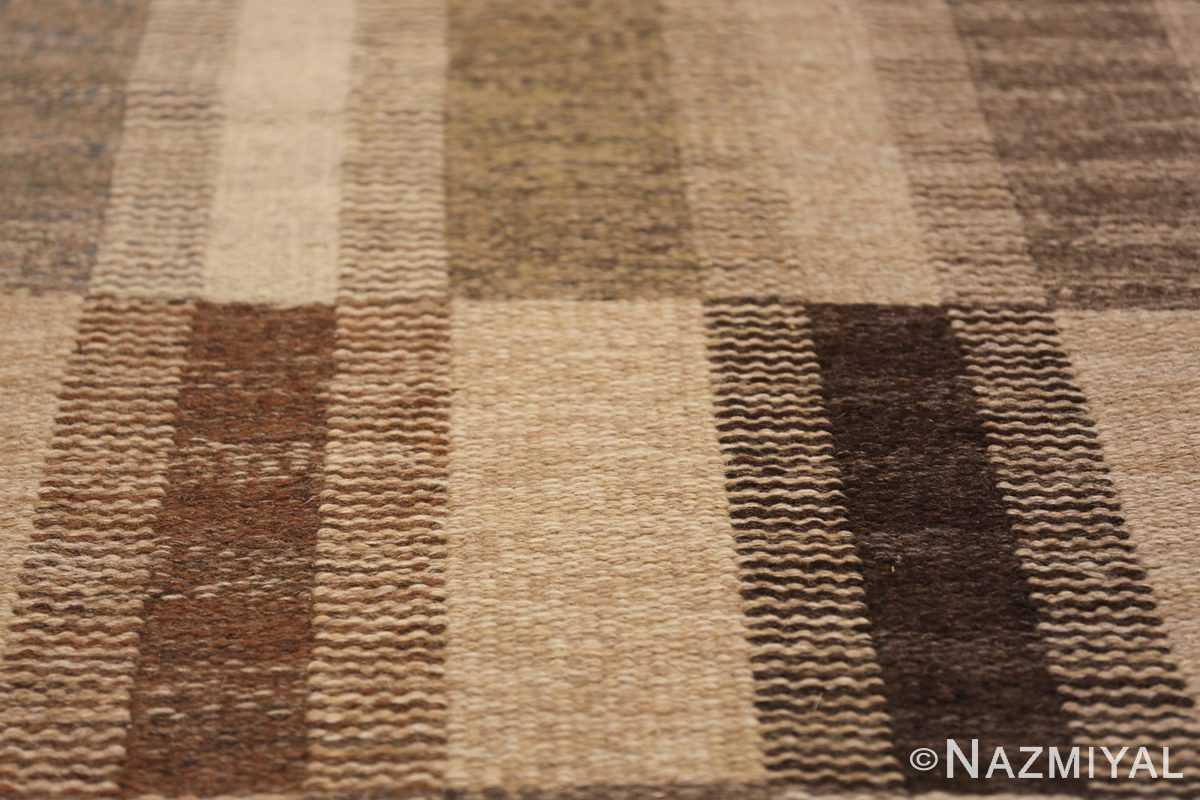 Wide hallway vintage Scandinavian kilim rug by Brita Grahn 49804 tiro mosaic Nazmiyal