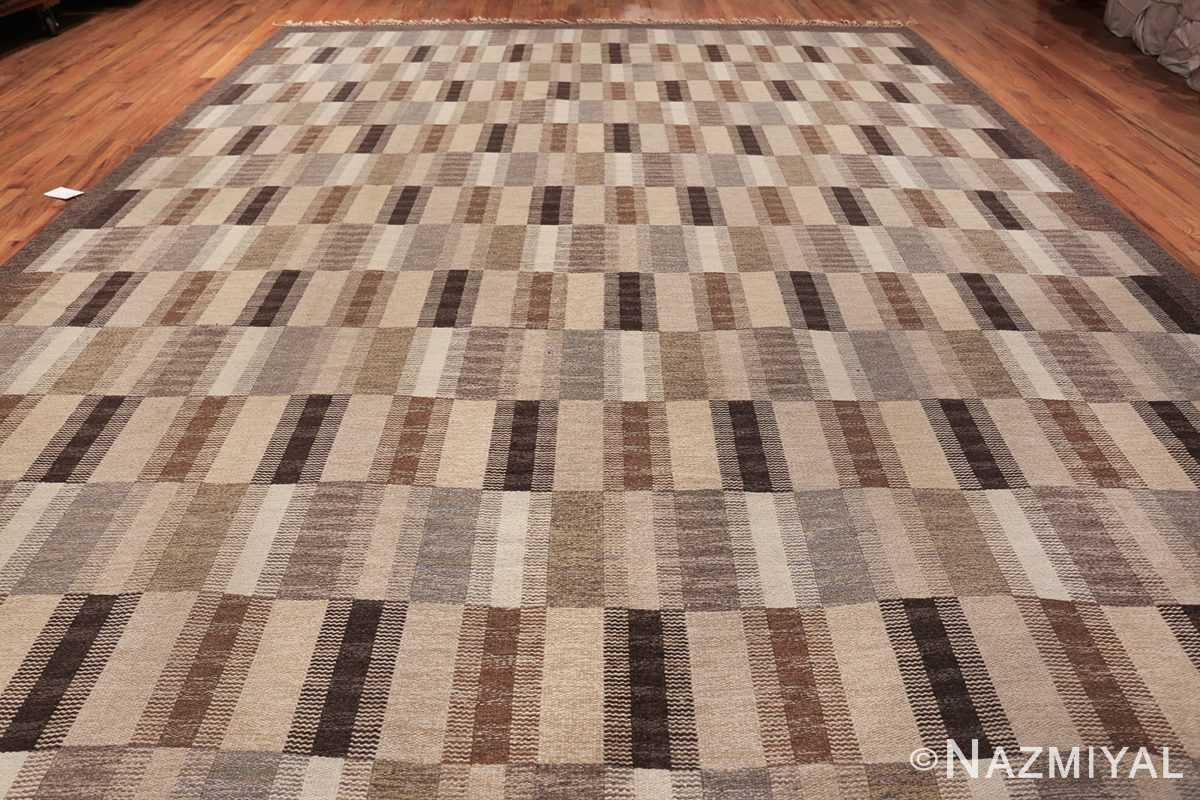 Wide hallway vintage Scandinavian kilim rug by Brita Grahn 49804 whole Nazmiyal