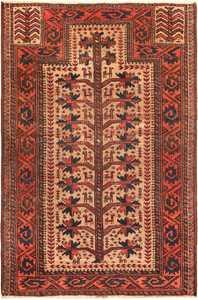 Antique Persian Baluch Tribal Prayer Rug 49787 - Nazmiyal