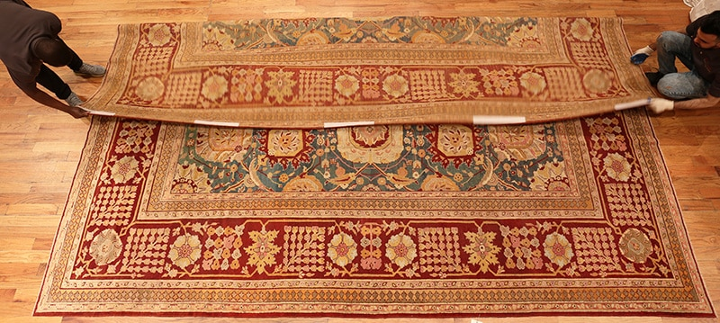Grab Rug Corners and Fold In One Third Of The Way - Nazmiyal