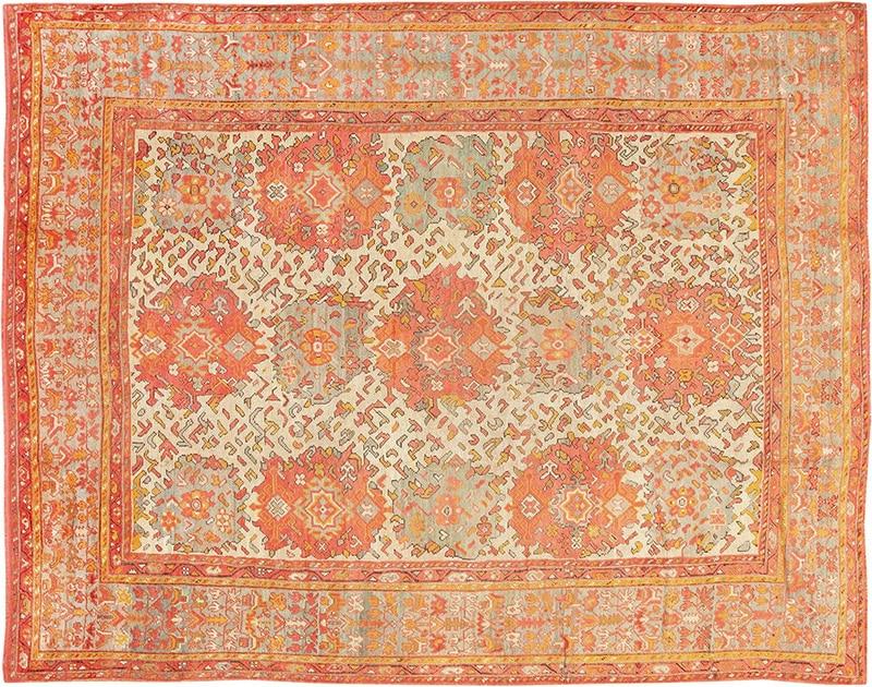 Large Scale Antique Turkish Oushak Carpet Photo - Nazmiyal