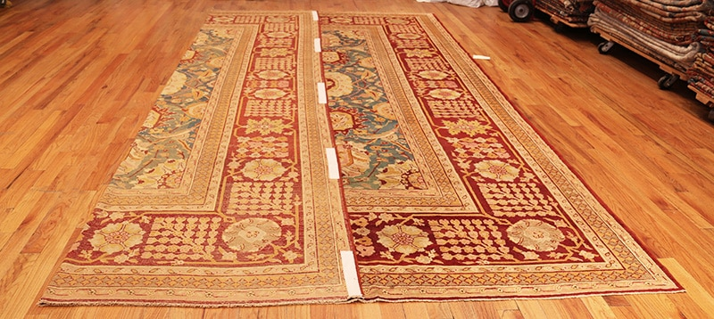 Lay Carpet Flat On The Floor With One Third Folded Over - Nazmiyal