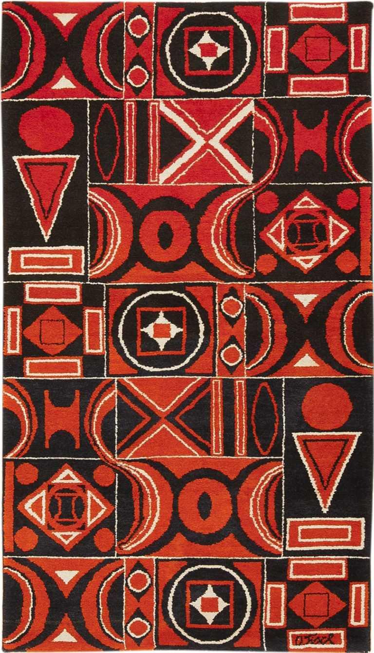 Vintage Ecuadorian Olga Fisch Formas Rug 49814 Nazmiyal