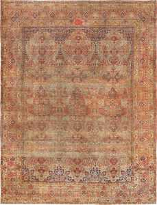 Antique Oversize Persian Lavar Kerman Rug 49681 Nazmiyal