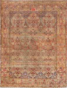 Antique Oversize Persian Lavar Kerman Rug 49681