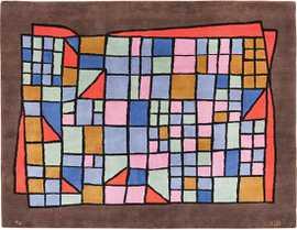 Vintage French Paul Klee Art Rug 49813 Nazmiyal