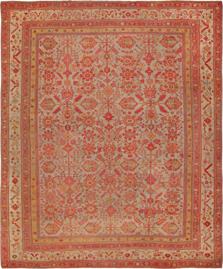 Room Size Antique Decorative Turkish Oushak Rug 49539 - Namziyal