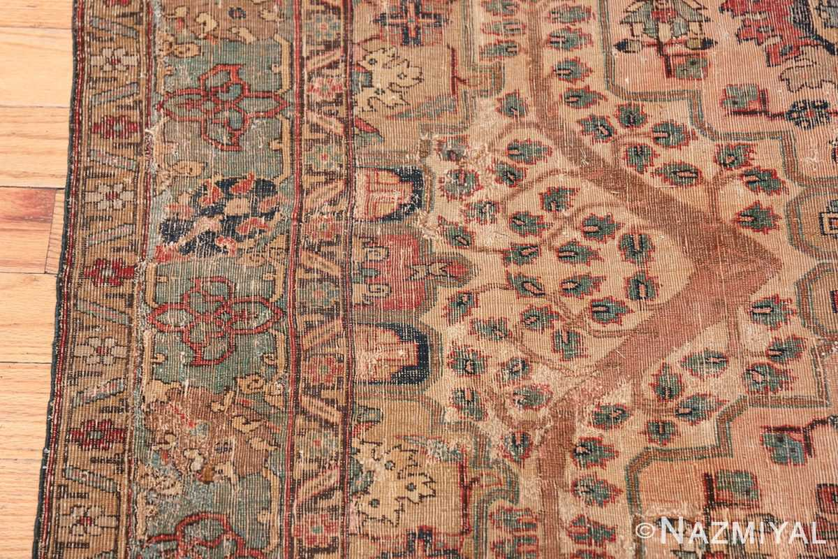 17th Century Small Size Persian Khorassan Rug 49698 Border Nazmiyal