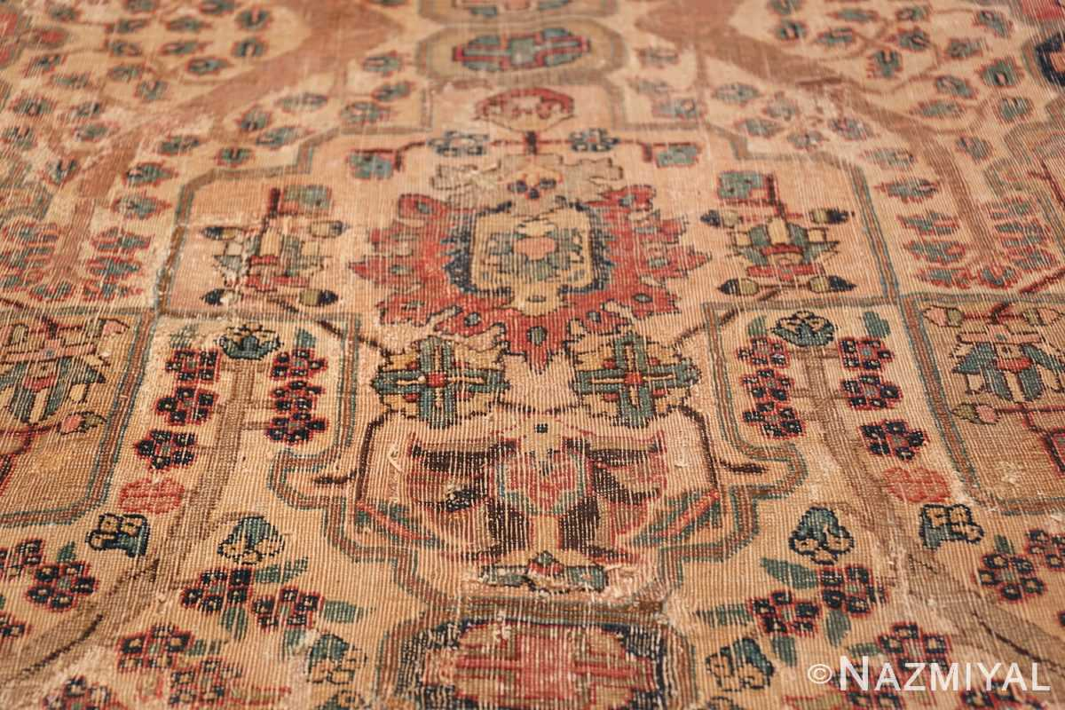 17th Century Small Size Persian Khorassan Rug 49698 Buteh Design Nazmiyal