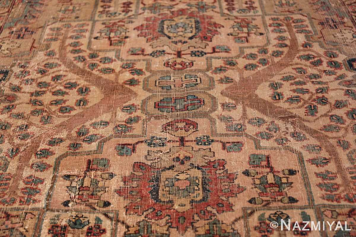 17th Century Small Size Persian Khorassan Rug 49698 Central Medallion Nazmiyal