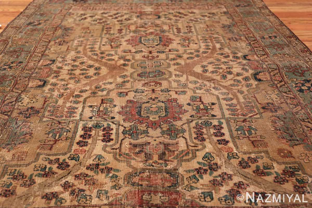 17th Century Small Size Persian Khorassan Rug 49698 Field Design Nazmiyal