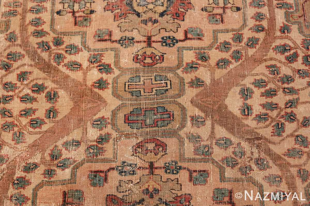 17th Century Small Size Persian Khorassan Rug 49698 Middle Cross Nazmiyal