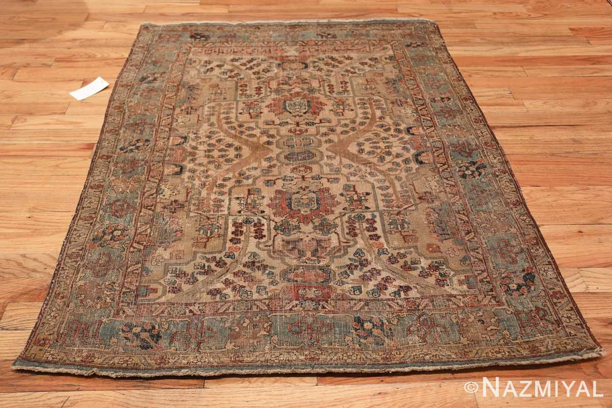 17th Century Small Size Persian Khorassan Rug 49698 Whole Design Nazmiyal