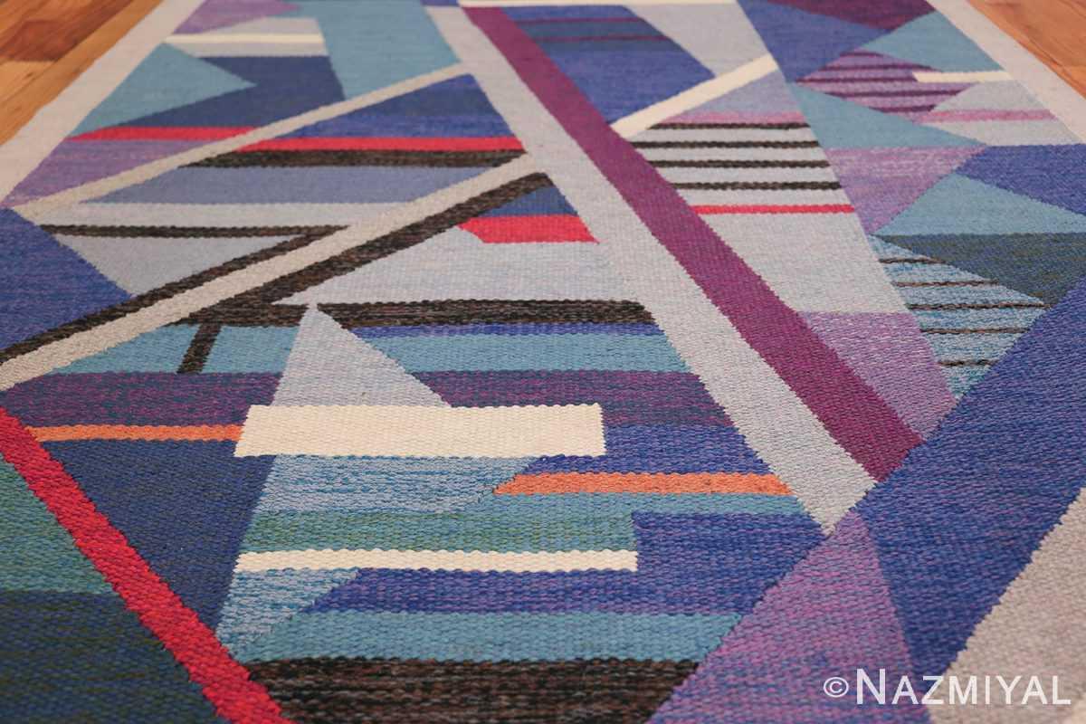 Agda Osterberg Vintage Scandinavian Swedish Kilim Rug 49822 Colorful Field Nazmiyal