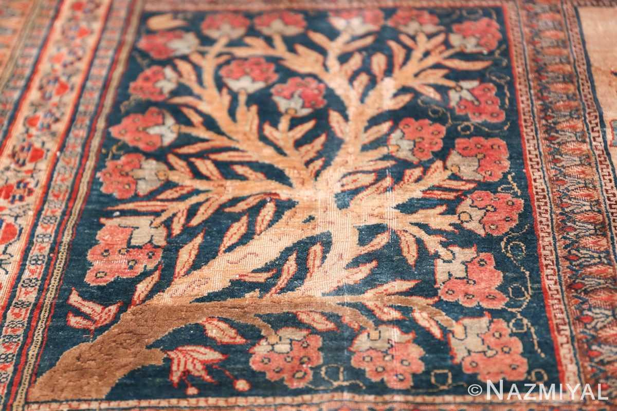 Antique Garden Design Persian Silk Heriz Rug 49140 Pomegranate Tree Nazmiyal