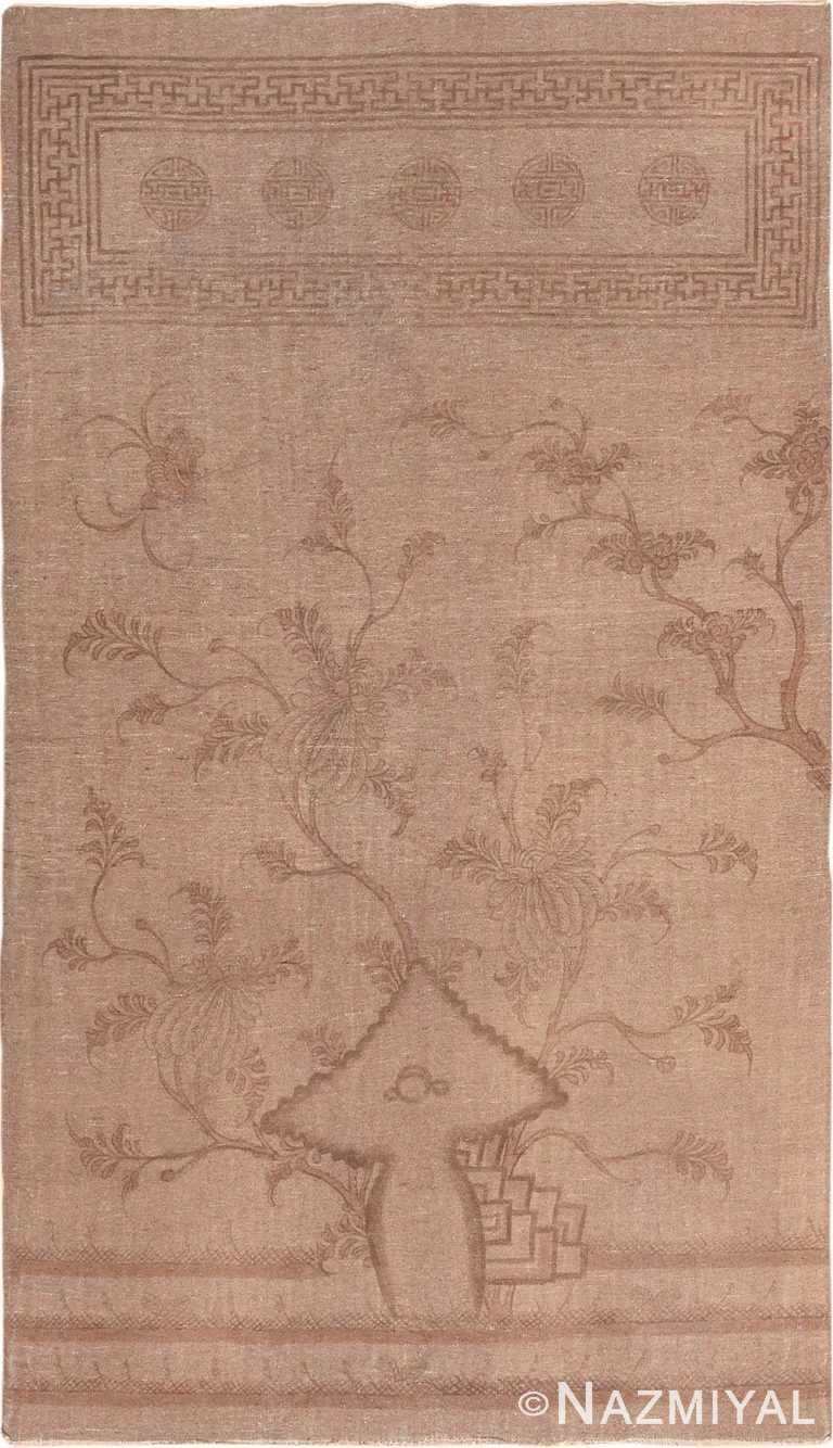 Brown Antique Mongolian Flat Weave Kilim Rug 49801 - Nazmiyal